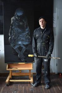 Steve Bauer Künstler Leipzig Kunst Der denkende Mann